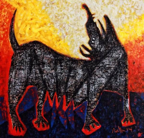 Dog Print featuring the painting Animalia Canis No. 8 by Mark M Mellon