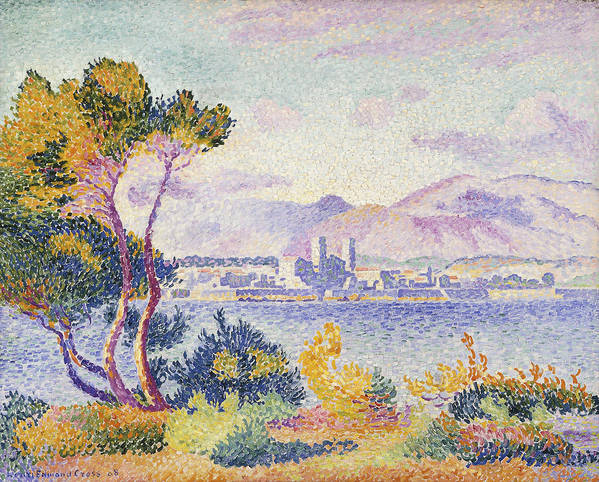 Antibes Print featuring the painting Antibes Afternoon by Henri Edmond Cross