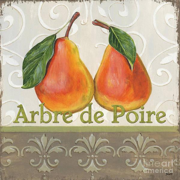 Kitchen Print featuring the painting Arbre De Poire by Debbie DeWitt