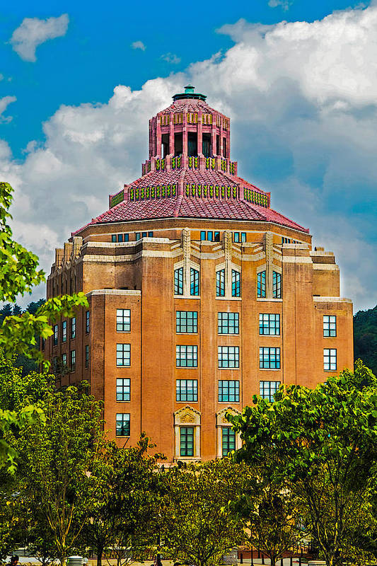 Asheville Print featuring the photograph Asheville City Hall by John Haldane