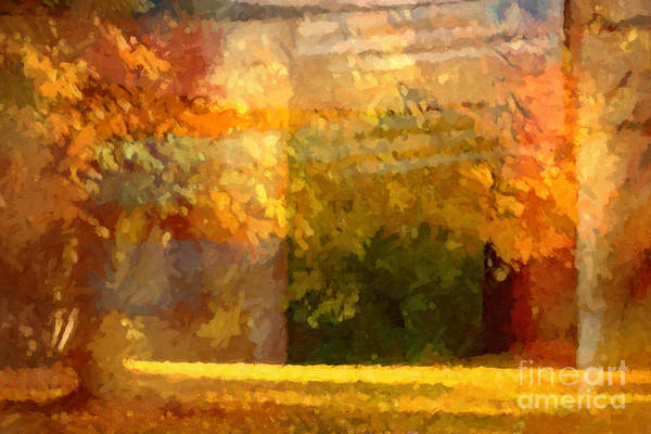 Autumn Colors Print featuring the painting Autumn Colors Painterly by Lutz Baar