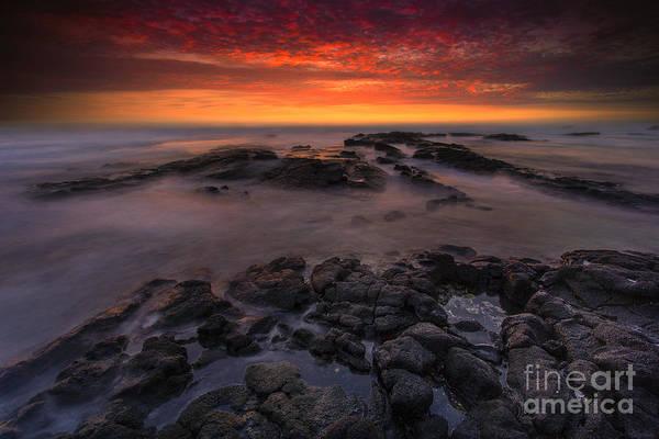 Sunset Print featuring the photograph Bali Kai - Kona Sunset by Marco Crupi