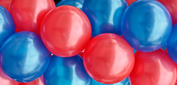 Air Print featuring the photograph Balloons by Tom Gowanlock