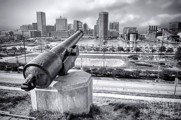 Baltimore Print featuring the photograph Baltimore Inner Harbor Skyline by Olivier Le Queinec