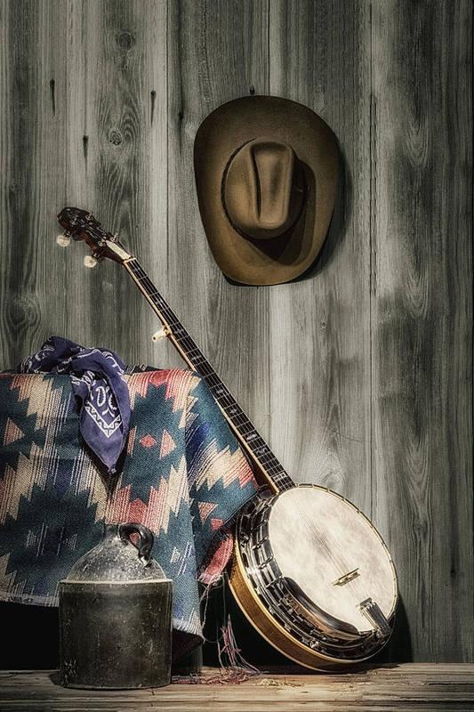 Banjo Print featuring the photograph Barn Dance Hoe Down by Tom Mc Nemar