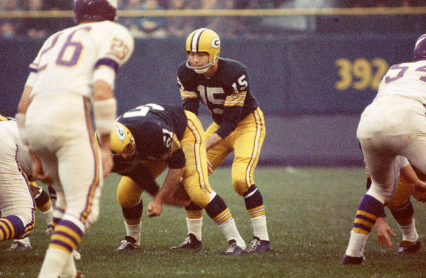 Classic Print featuring the photograph Bart Starr Vs. Vikings by Retro Images Archive