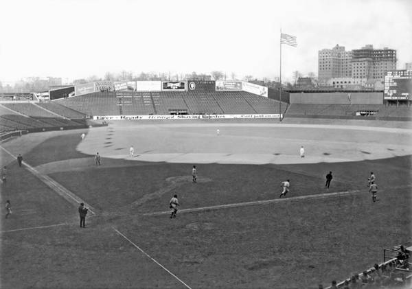 1924 Print featuring the photograph Baseball At Yankee Stadium by Underwood Archives
