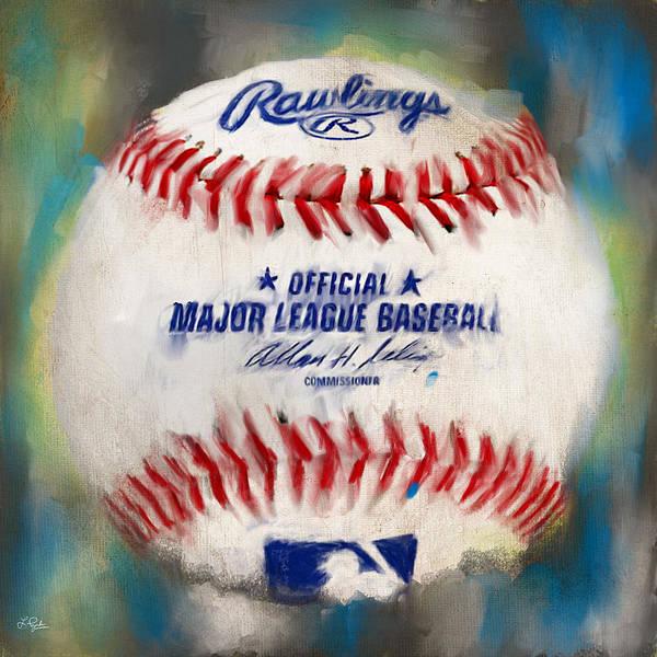 Baseball Print featuring the digital art Baseball Iv by Lourry Legarde