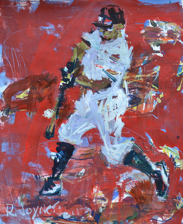 Art Print featuring the mixed media Baseball Painting by Robert Joyner