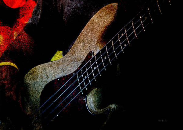 Bass Print featuring the photograph Bass Guitar by Bob Orsillo