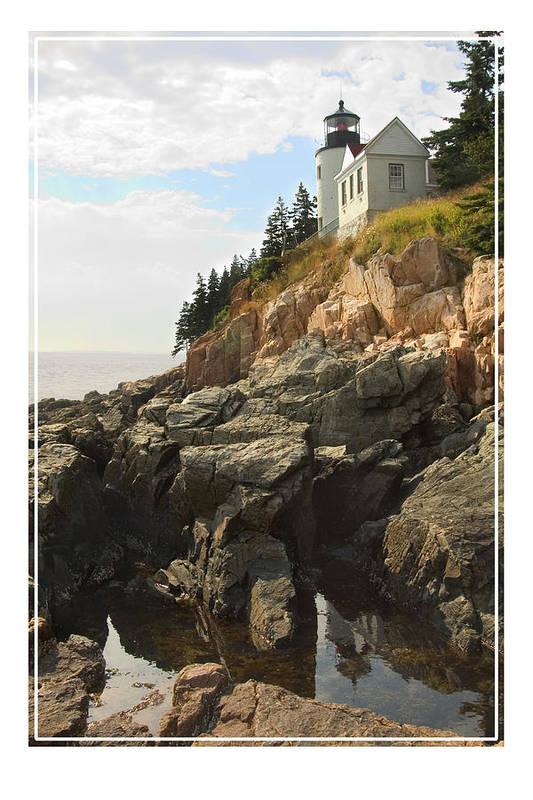 Bass Harbor Print featuring the photograph Bass Harbor Head Lighthouse by Mike McGlothlen