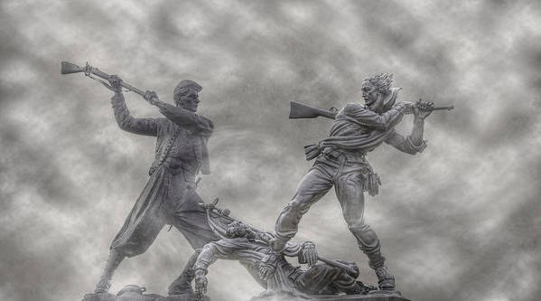 Blue And The Gray Print featuring the photograph Battle Of Gettysburg 150 Blue And The Gray by Randy Steele