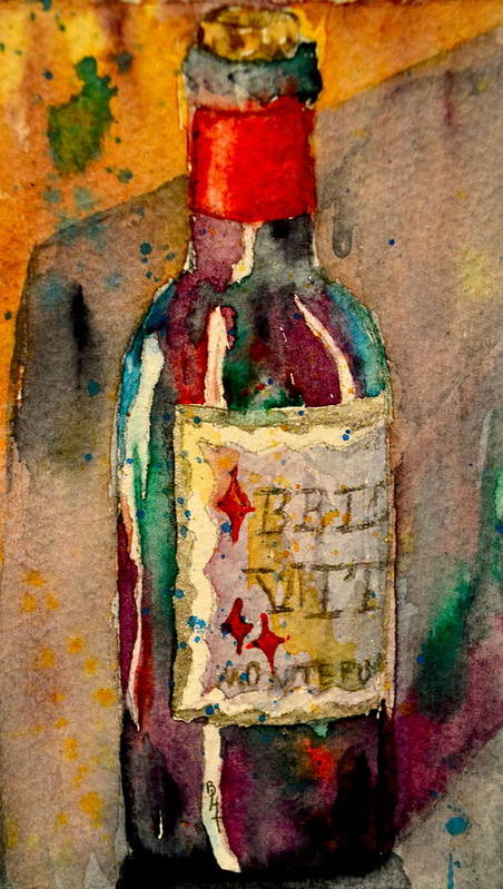 Wine Print featuring the painting Bella Vita by Beverley Harper Tinsley