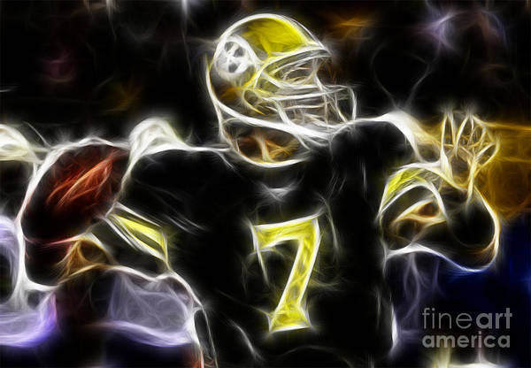 Ben Roethlisberger Print featuring the photograph Ben Roethlisberger - Pittsburg Steelers by Paul Ward