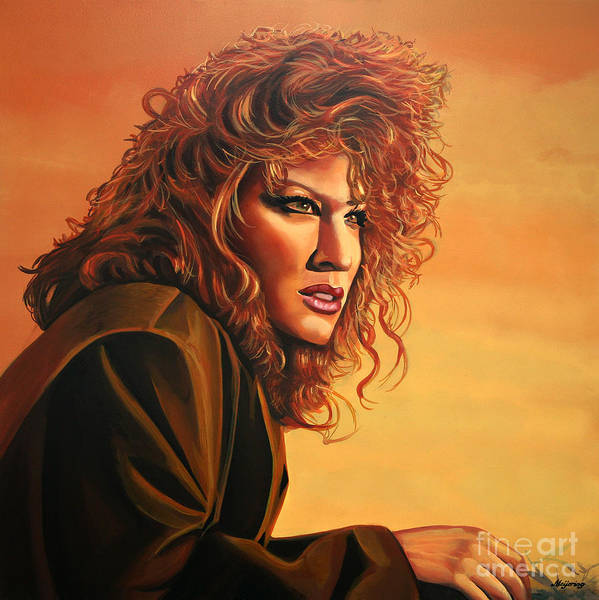 Bette Midler Print featuring the painting Bette Midler by Paul Meijering