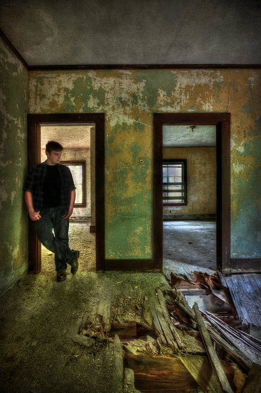 Abandon Print featuring the photograph Beyond Regrets Of The Past by Evelina Kremsdorf
