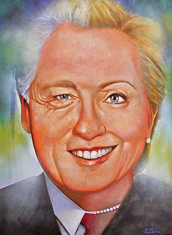 Portraits Print featuring the painting Billary by Gary McLaughlin