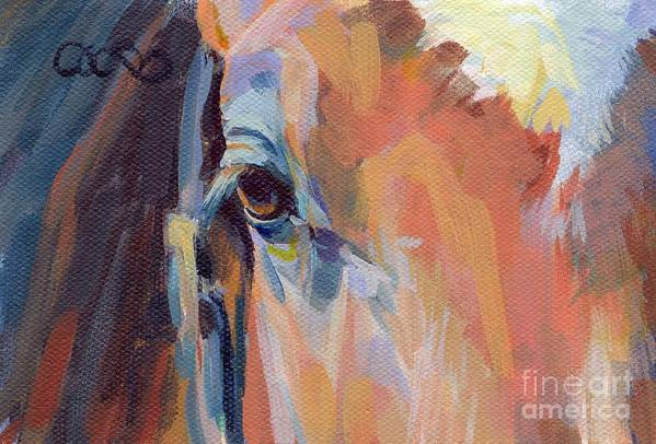 Thoroughbred Print featuring the painting Billy by Kimberly Santini