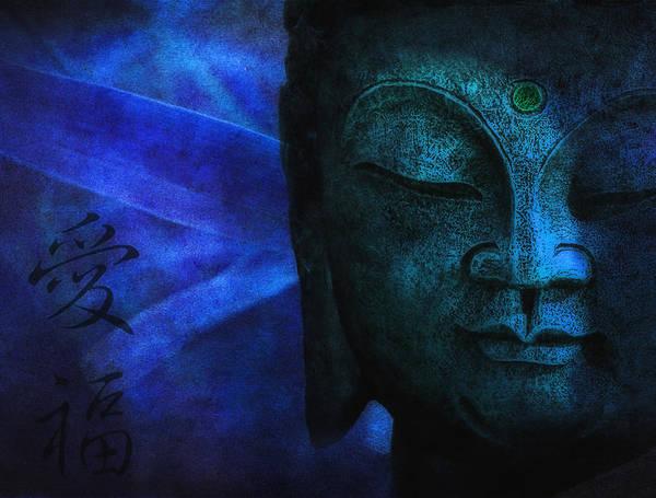 Buddha Print featuring the photograph Blue Balance by Joachim G Pinkawa