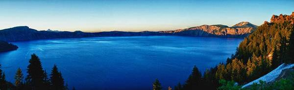 Crater Lake Print featuring the photograph Blue Blue Blue by Rob Wilson