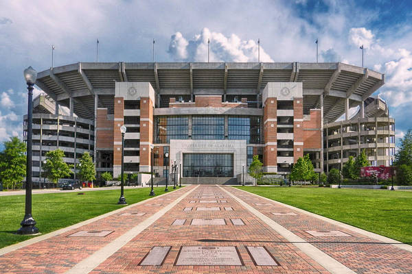 Crimson Tide Football Print featuring the photograph Bryant Denny Stadium by Ben Shields