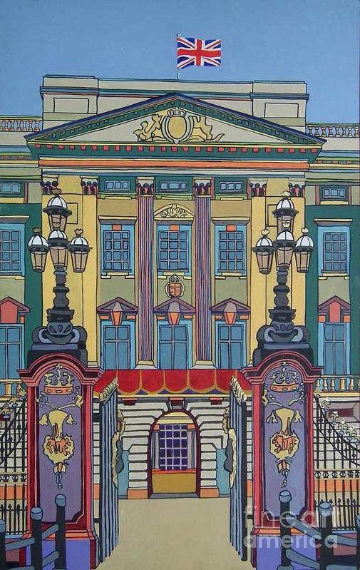 Buckingham Palace Print featuring the painting Buckingham Palace by Nicky Leigh