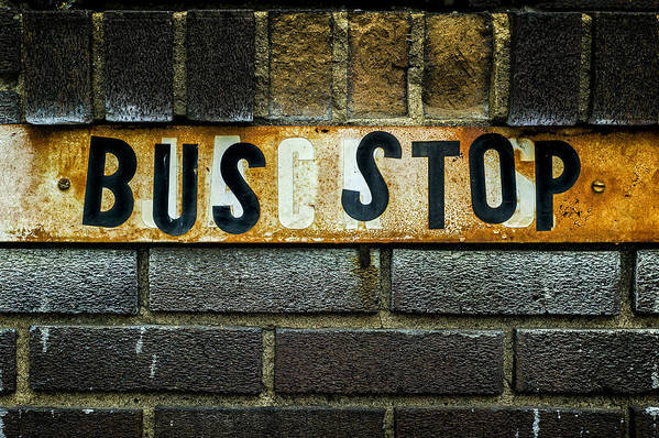 Jeff Print featuring the photograph Bus Stop by Jeff Burton