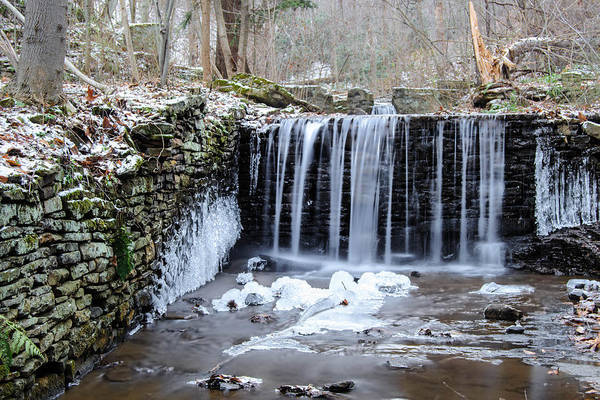 Buttermilk Falls Print featuring the photograph Buttermilk Falls 2 by Anthony Thomas