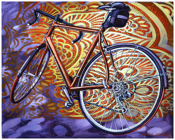 Bicycle Print featuring the painting Cannondale by Mark Howard Jones
