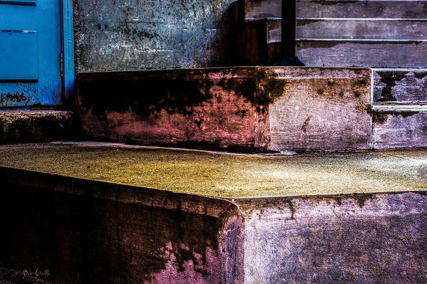 Step Print featuring the photograph Cement Steps Number One by Bob Orsillo