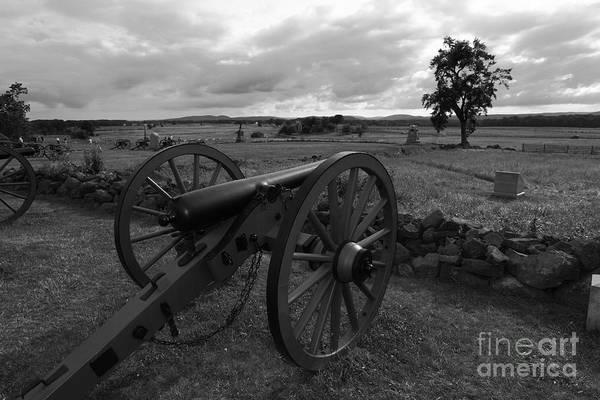 Gettysburg Print featuring the photograph Cemetery Ridge Gettysburg Battlefield by James Brunker
