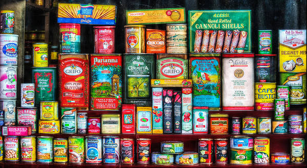 Central Grocery Print featuring the photograph Central Grocery Essentials by Brenda Bryant