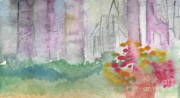 Garden Print featuring the painting Central Park by Linda Woods