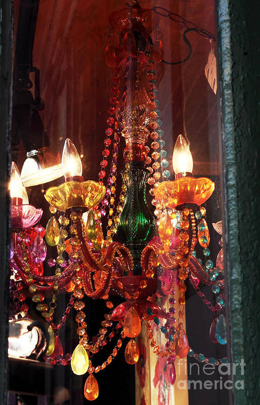 New Orleans Print featuring the photograph Chandelier by John Rizzuto