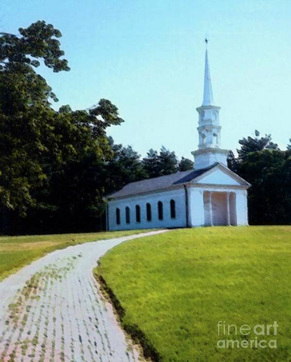 Chapel At The Wayside Inn Print by Desiree Paquette