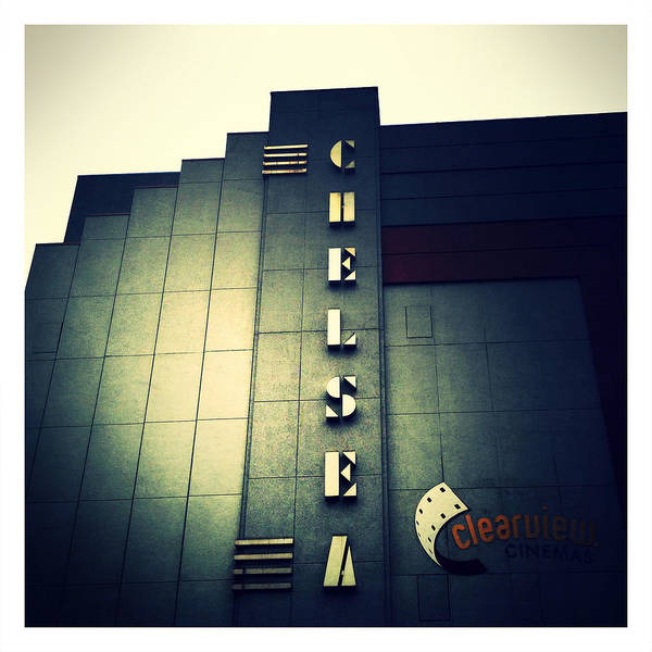 Chelsea Cinemas Print featuring the photograph Chelsea Art Deco Blue by Natasha Marco