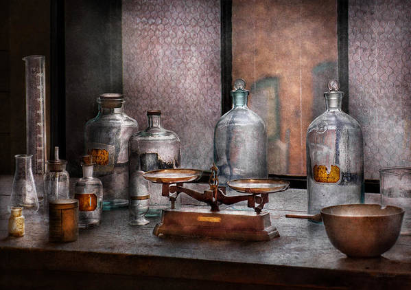 Hdr Print featuring the photograph Chemist - The Art Of Measurement by Mike Savad