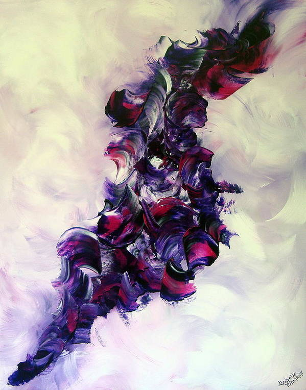 Abstract Print featuring the painting Cherry Rock'n Roll by Isabelle Vobmann