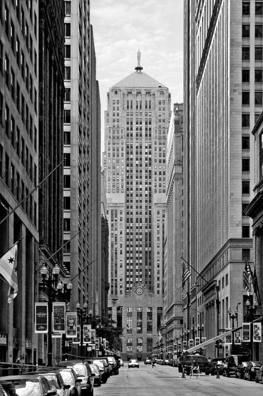 Cbot Print featuring the photograph Chicago Board Of Trade by Christine Till