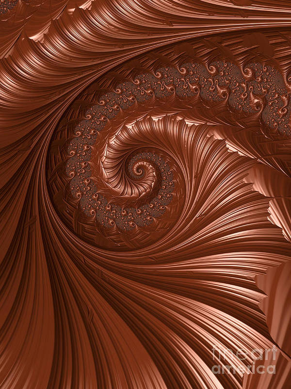 Background Print featuring the digital art Chocolate by Heidi Smith