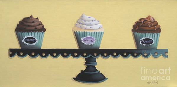 Art Print featuring the painting Classic Cupcakes by Catherine Holman
