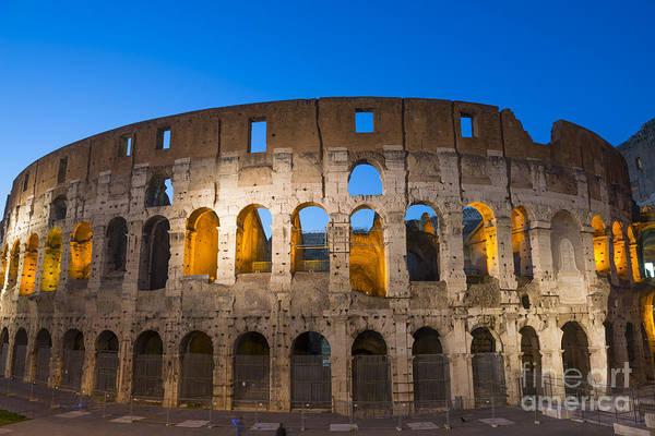 Colosseum Print featuring the photograph Colosseum by Mats Silvan