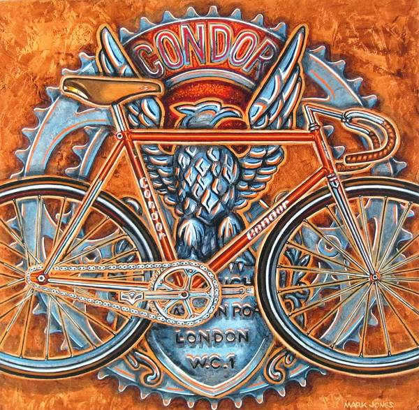 Bicycle Print featuring the painting Condor Fixed by Mark Howard Jones