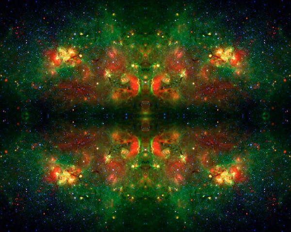 Universe Print featuring the photograph Cosmic Kaleidoscope 3 by The Vault - Jennifer Rondinelli Reilly