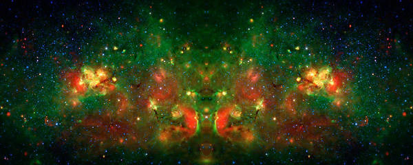 Universe Print featuring the photograph Cosmic Reflection 1 by The Vault - Jennifer Rondinelli Reilly