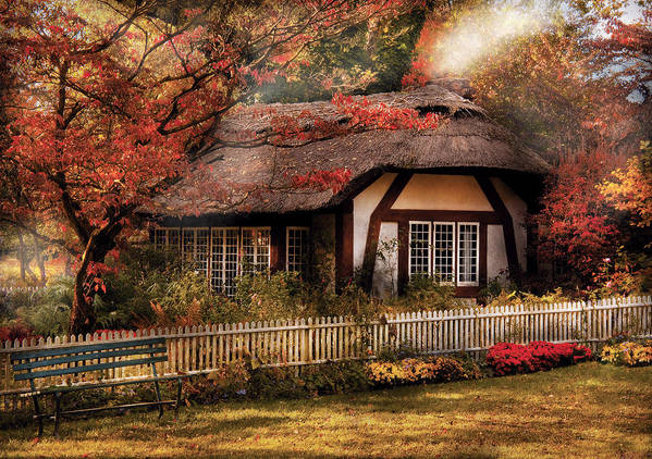 Savad Print featuring the photograph Cottage - Nana's House by Mike Savad