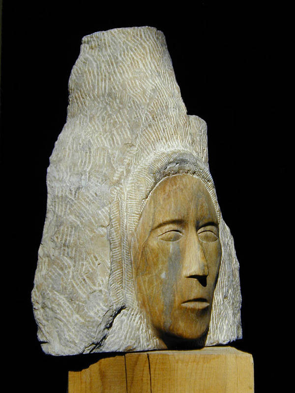Sculpture Print featuring the sculpture Curandera by Manuel Abascal