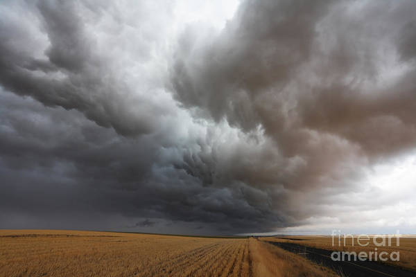 Dark Storm Clouds Print featuring the photograph Dark Storm Clouds by Boon Mee