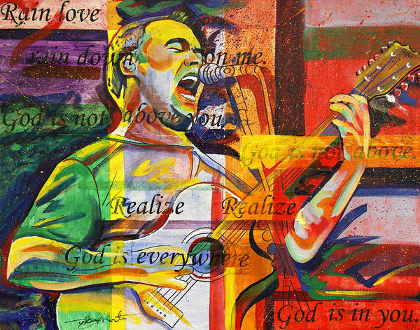 Dave Matthews Print featuring the painting Dave Matthews-bartender by Joshua Morton