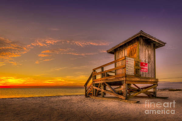 Sunset Print featuring the photograph Day Before Spring Break by Marvin Spates